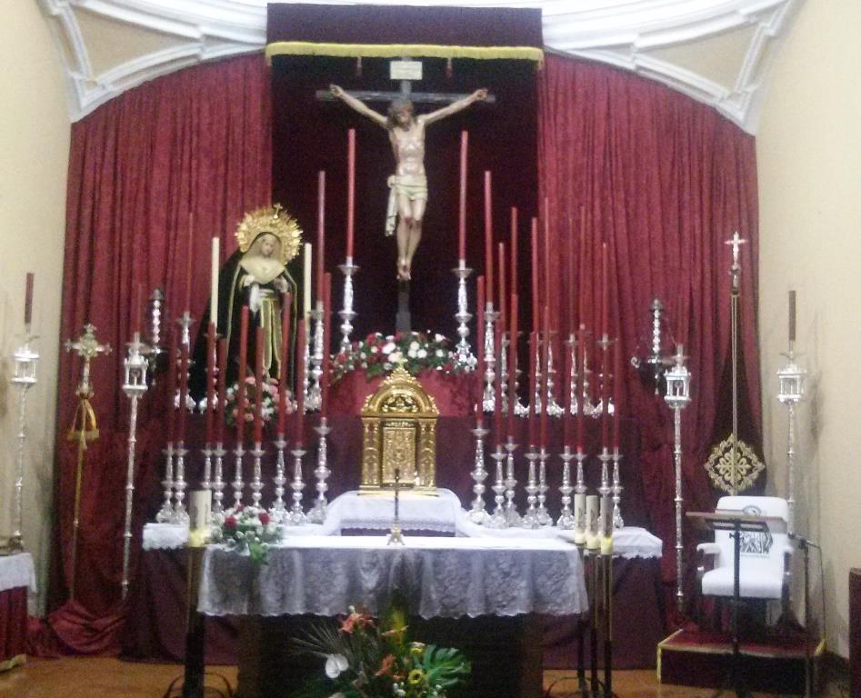 Comienzo de los Cultos al Stmo. Cristo de la Misericordia. Participación de los hermanos en las celebraciones litúrgicas.