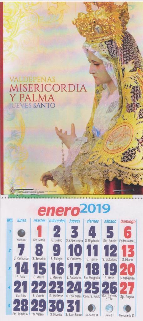 A la venta los calendarios de la Hermandad del año 2019. Precio 1 €.