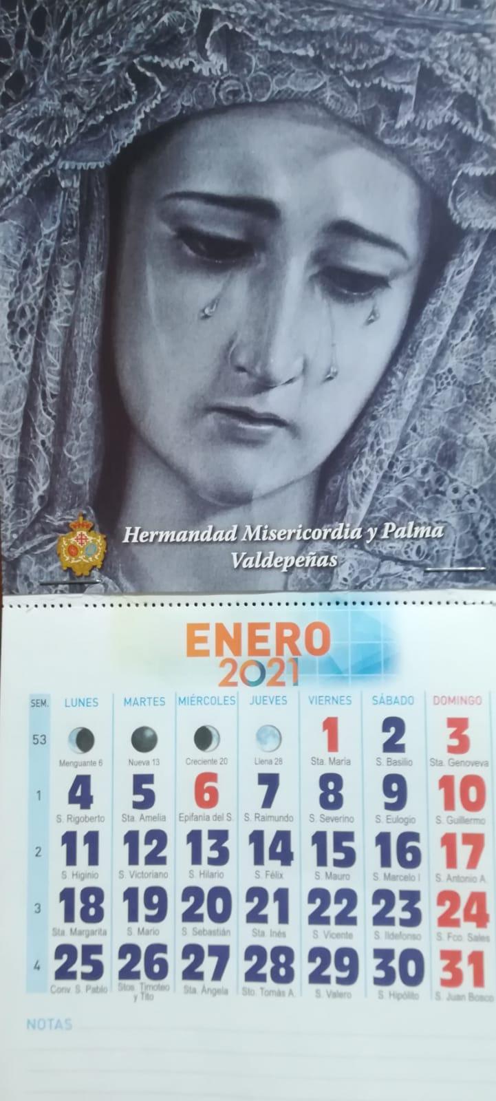 Ya están disponibles los calendarios del 2021 de la Hermandad.
