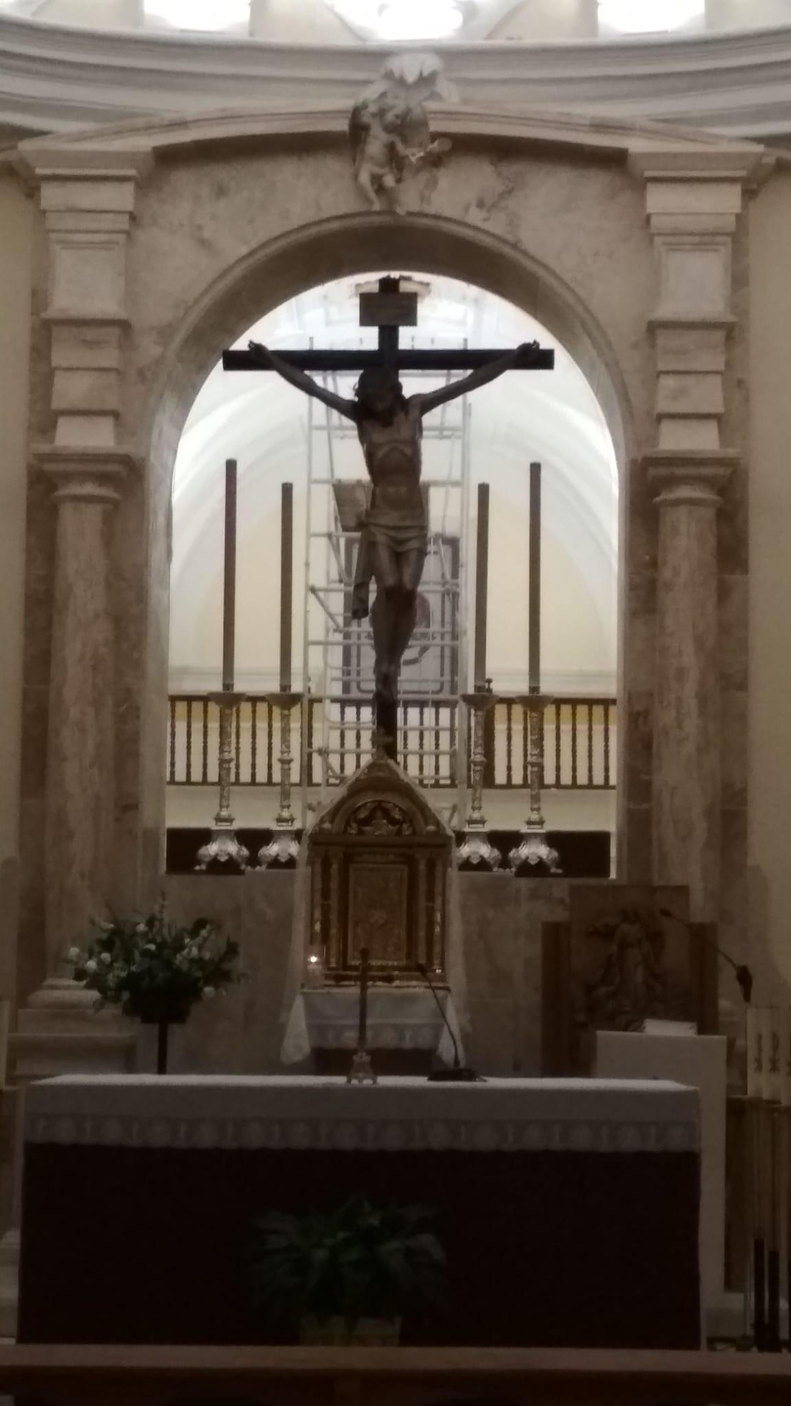 Modificación realizada en el camarín del Stmo. Cristo de la Misericordia.