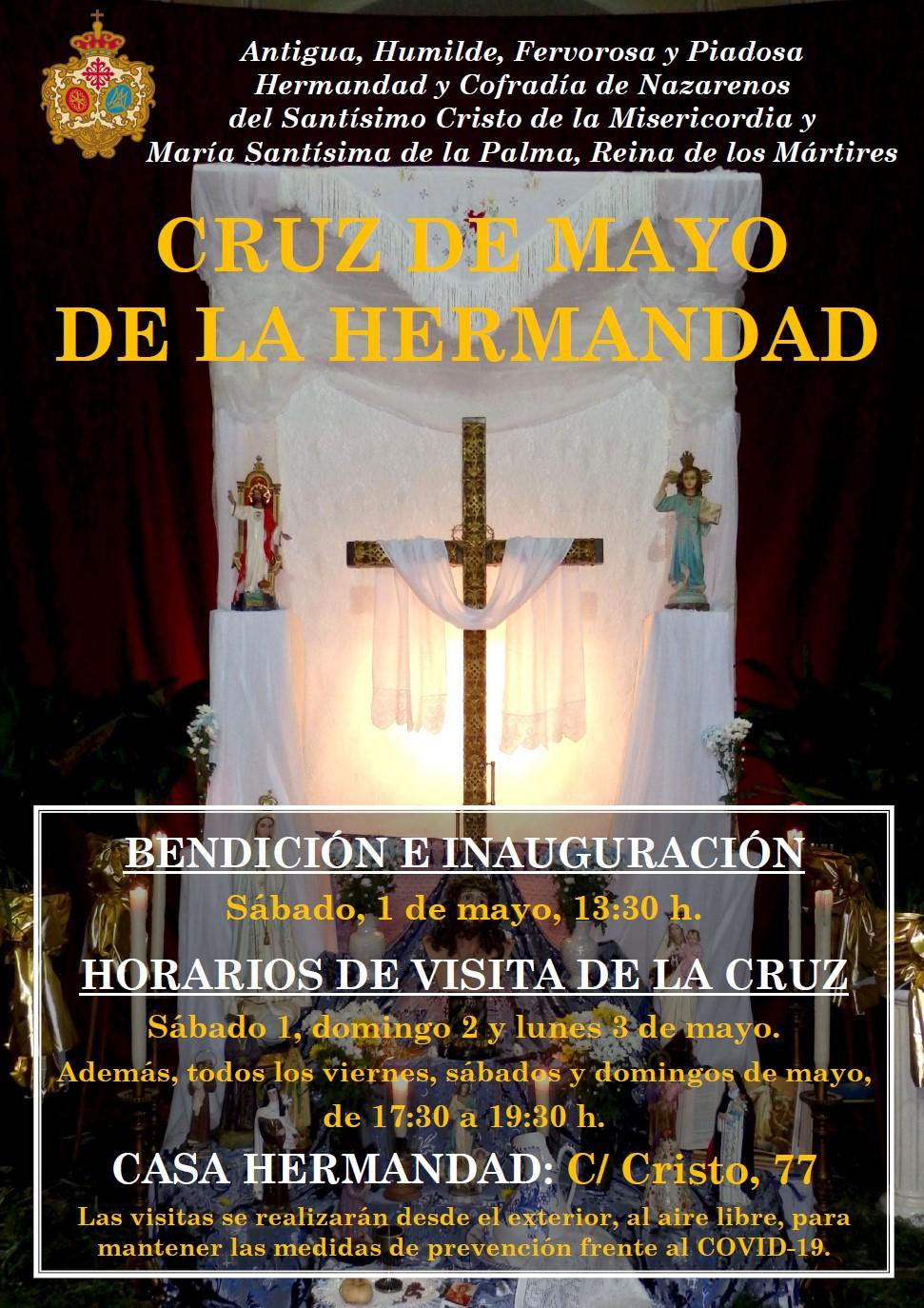 Cruz de Mayo de la Hermandad de Misericordia y Palma. Mes de mayo.