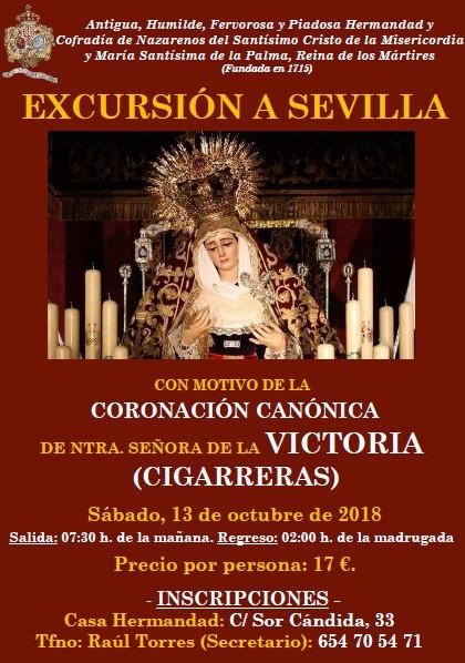 Excursión a Sevilla, 13 de octubre. Coronación Canónica Hdad. de las Cigarreras.