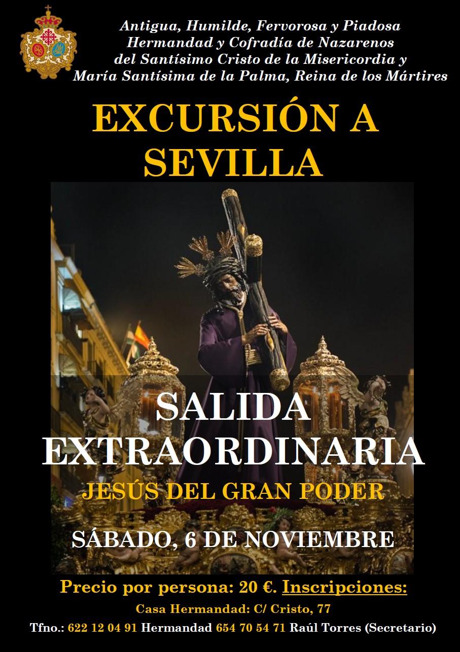 Excursión a Sevilla para la Salida Extraordinaria del Gran Poder. Sábado, 6 de noviembre.