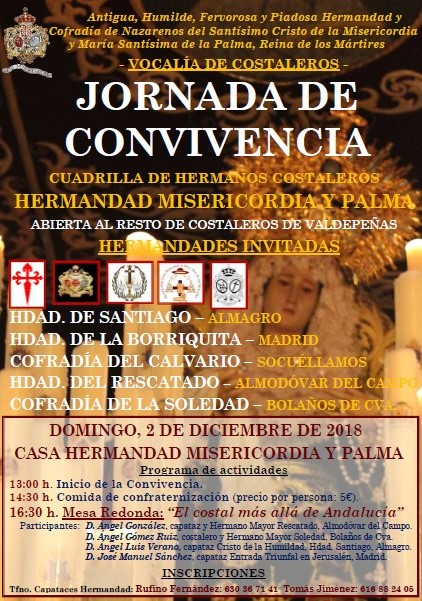 Costaleros Misericordia y Palma. Jornada de Convivencia.