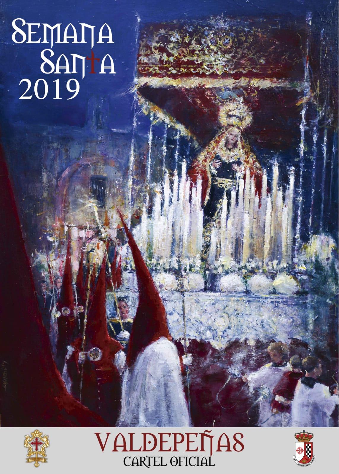 María Stma. de la Palma, Reina de los Mártires, imagen central del Cartel Oficial de la Semana Santa 2019 de Valdepeñas.