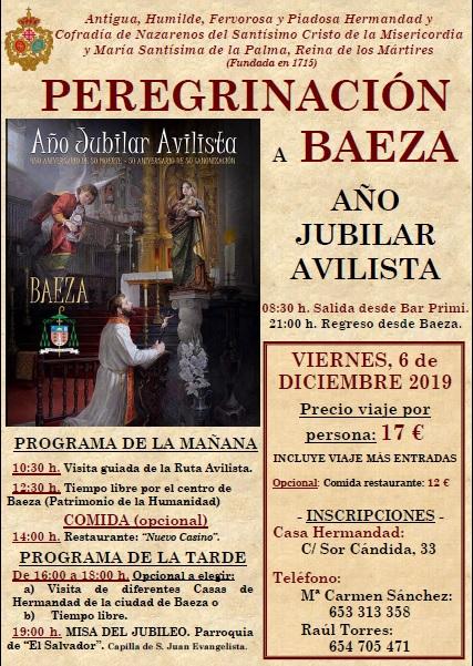 Viernes, 6 de diciembre. Peregrinación a Baeza. Últimos días de inscripción.