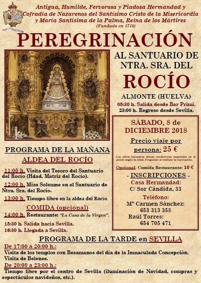 Peregrinación al Rocío. 8 de diciembre.