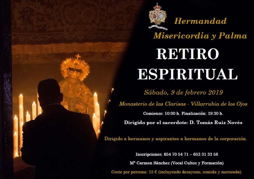 Retiro espiritual para hermanos y aspirantes a hermanos. Sábado, 9 de febrero. Monasterio de las Clarisas - Villarrubia de los Ojos.
