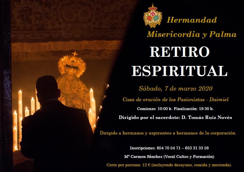 Retiro espiritual de la Hermandad. Sábado, 7 de marzo.