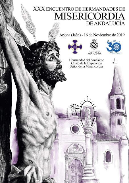 Arjona acogerá la celebración del XXX Encuentro de Hermandades de la Misericordia de Andalucía. Sábado, 16 de noviembre.