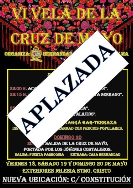 Aplazada la VI Velá de la Cruz de Mayo de Misericordia y Palma por las predicciones meteorológicas adversas.
