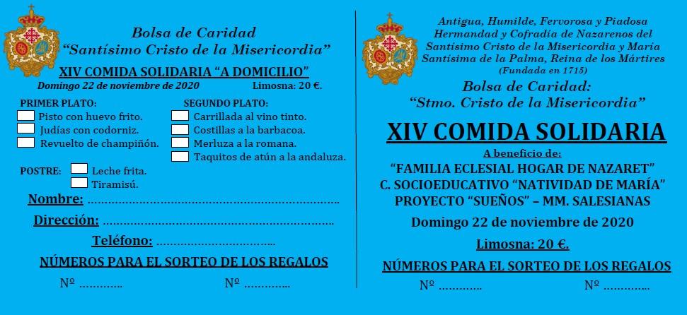 A la venta las entradas para la XIV Comida Solidaria