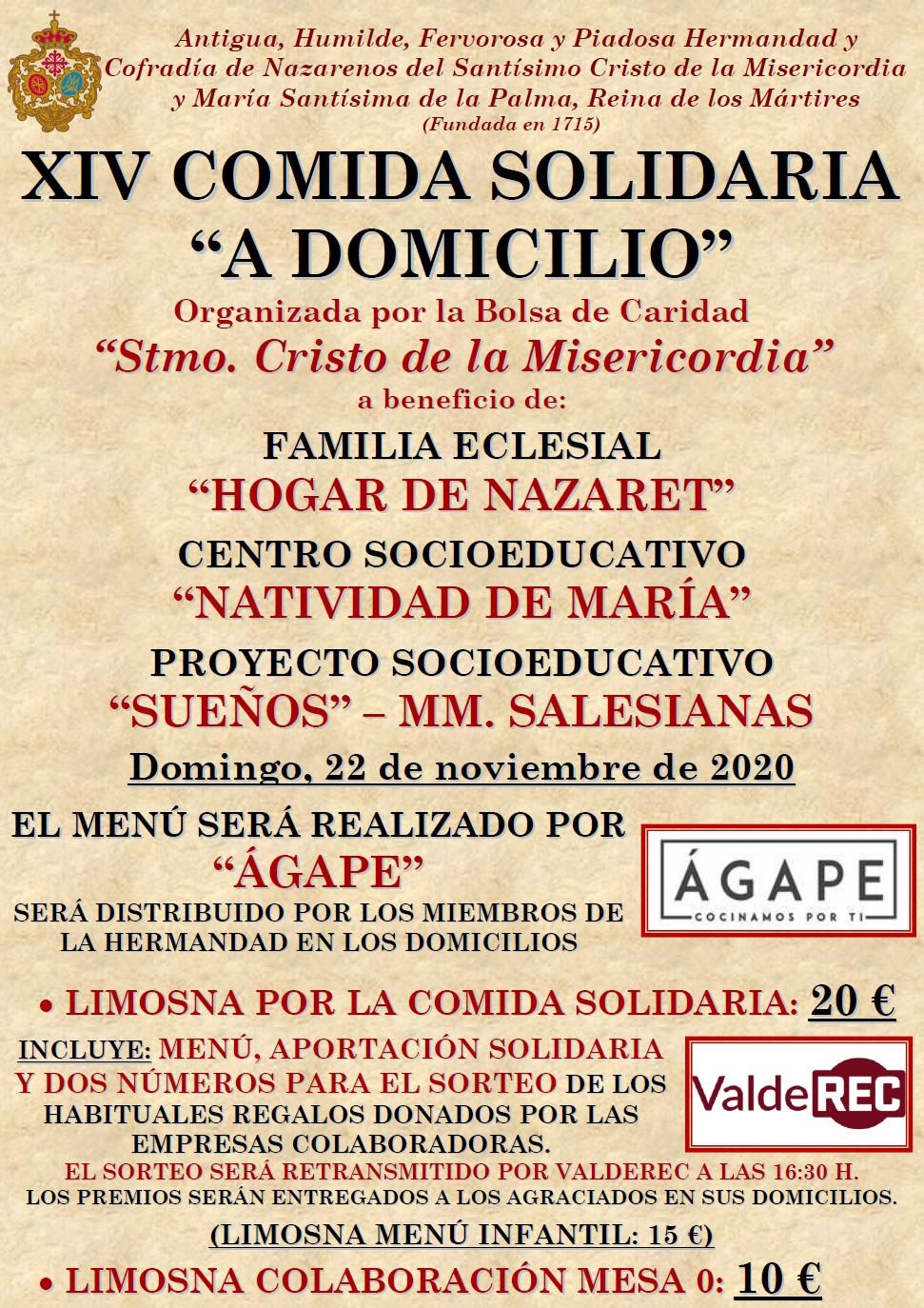 Continúa la venta de entradas para la XIV Comida Solidaria