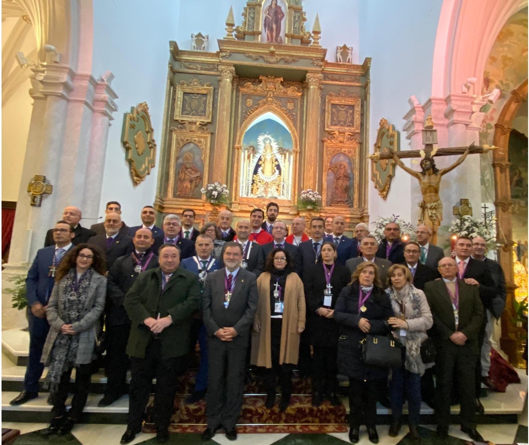 La Hermandad de Misericordia y Palma estuvo presente en el XXX Encuentro de Hermandades de la Misericordia de Andalucía celebrado en Arjona.